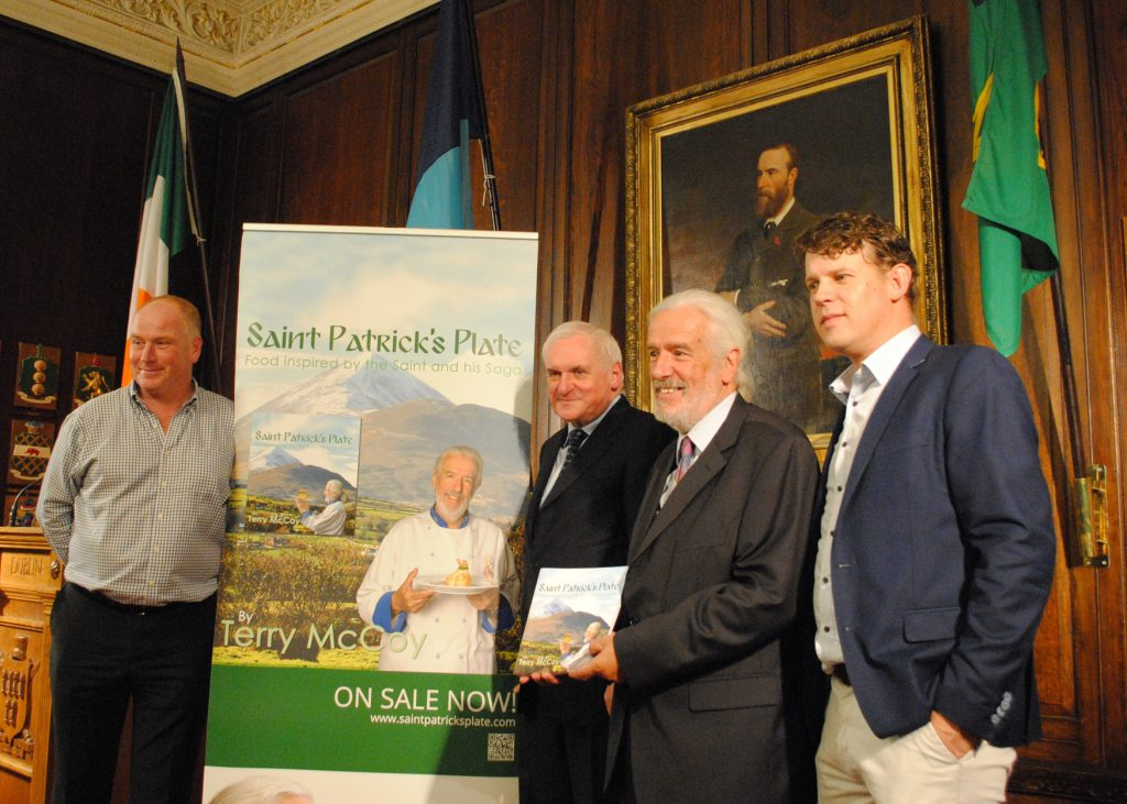 Saint Patrick's Plate - Book Launch at the Mansion House Terry McCoy Joe Shannon Fergus Gannon Bertie Ahern