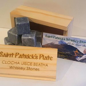 Saint Patrick's Plate - Whiskey Stones - Irish gift ideas